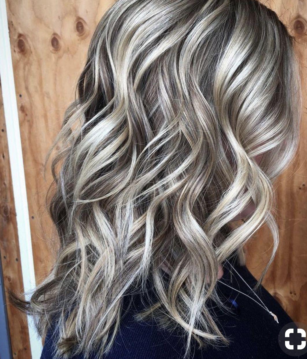 Beautiful Blonde Balayage On Dark Hair In 2019 Blonde