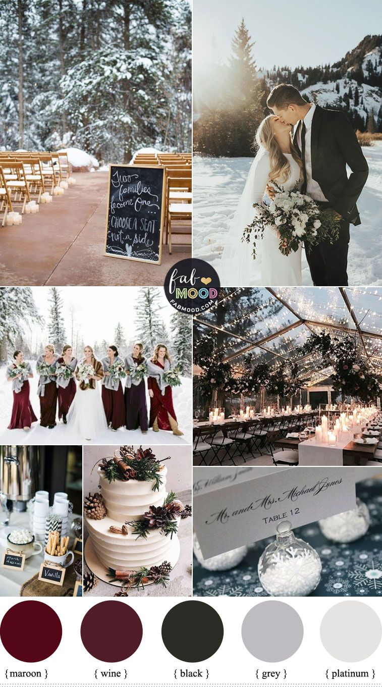 Cozy Winter Wedding Colors 2019 In Shades Of Season With Images