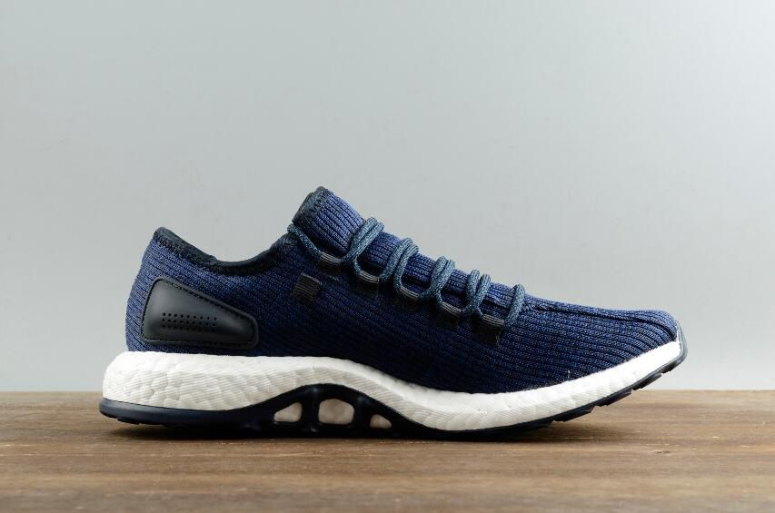 55bbea707 Adidas Pure BOOST Leisure Running Shoes BA8898 Blue White 04 ...