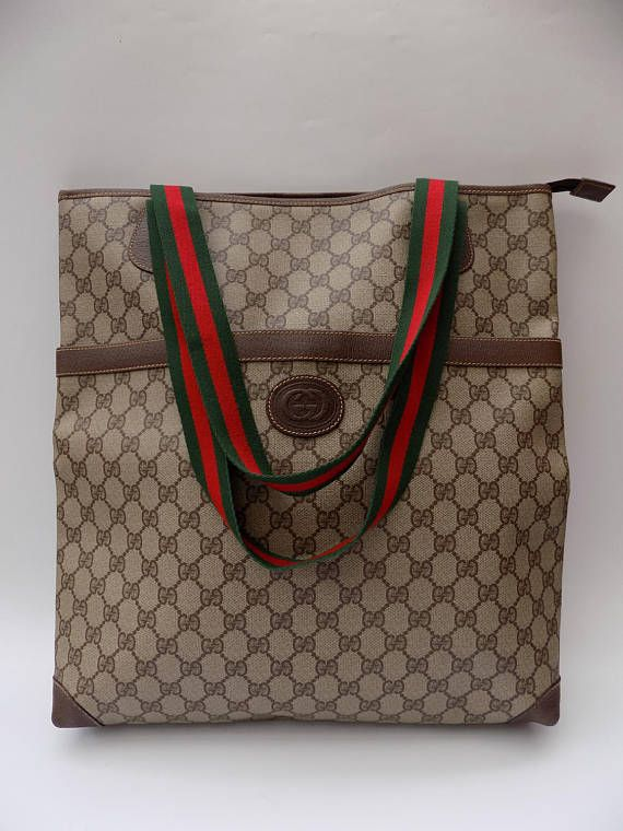 1abb1aca68b RESERVED for Charlotte!! Sale! GUCCI Vintage Brown Foldable Luggage ...