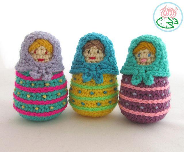 Amigurumi Russian Doll Pattern : Amigurumi matryoshka russian nesting doll pattern by tamara