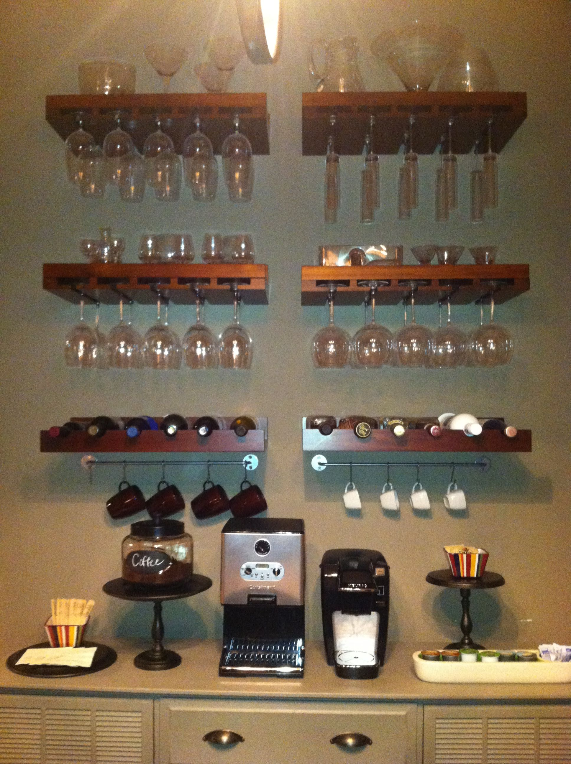 Home bar coffee station for sure ill need this in there for Home bar station