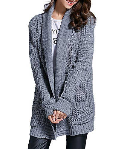 8e033f20f5 Scottliver Paul Women s Casual Open Front Knitted Pockets Lightweight Sweater  Cardigan Coat