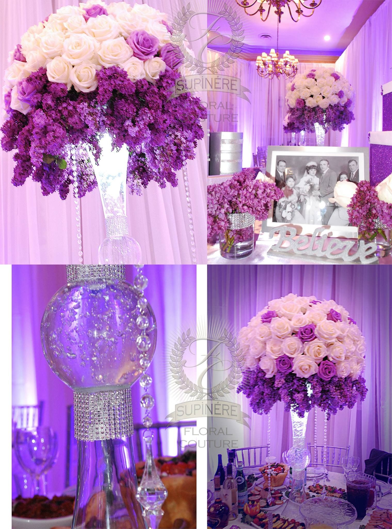 Supinere floral couture, San Francisco . Reception under a canopy of ...