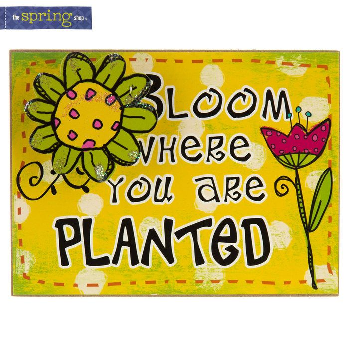 Bloom Where You Are Planted Wood Wall Plaque