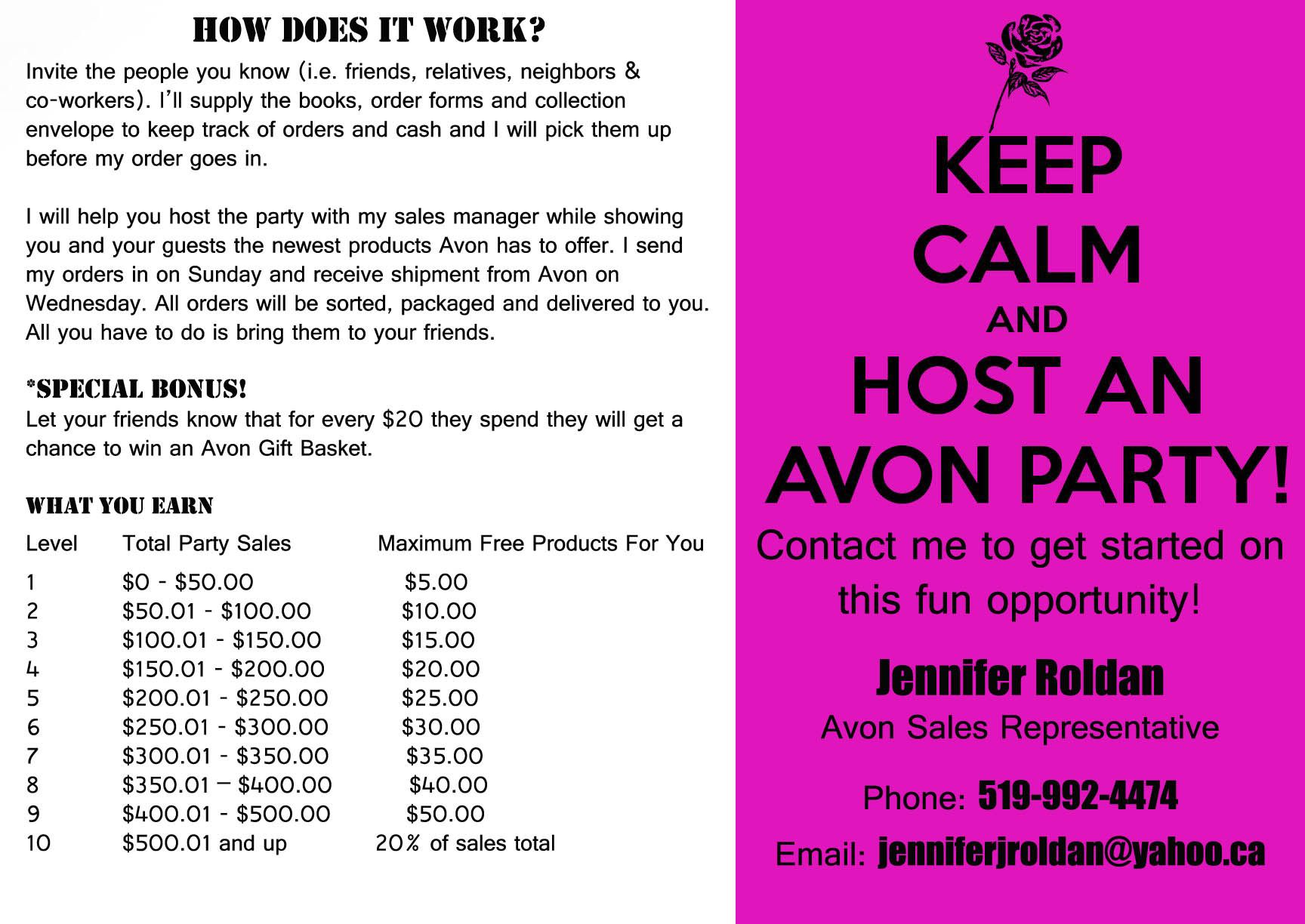 Signs I Need To Make For Biz Let S Host An Avon Party And Get You