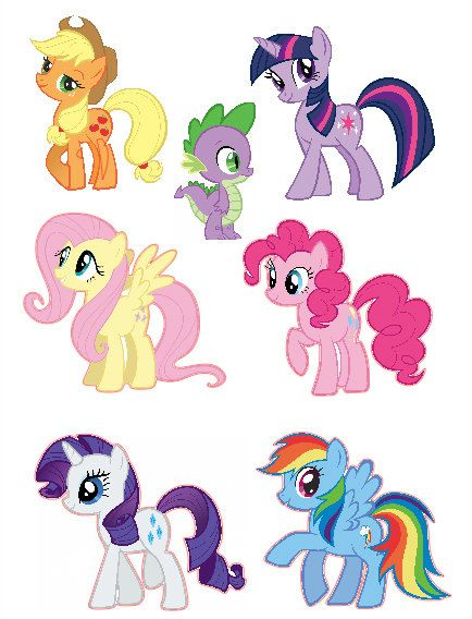 My Little Pony Friendship is Magic Group Shot Set Removable Wall ...
