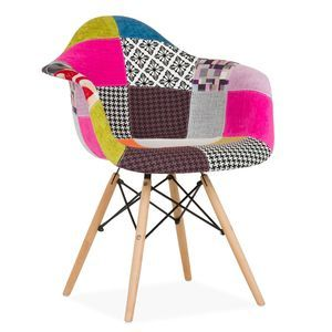 Wordans Home TDF030 - WOODEN ARMS Chair -Patchwork Edition ...