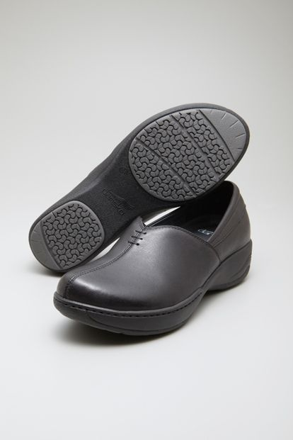 Designed for all-day comfort, our lightweight Abigail slip-on combines great arch support with a slip-resistant outsole to create a great choice for the workplace.