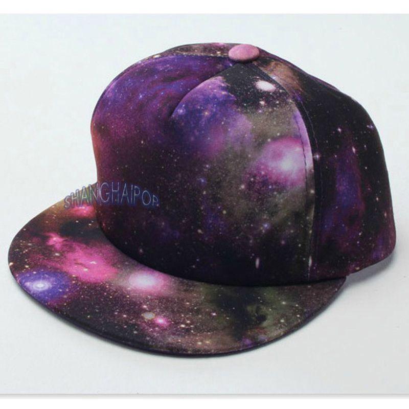 Galaxy Space Snapback Cap Baseball Hip Hop Flat Peak Hat Dance Stylish  Men Women 2aea0890b95