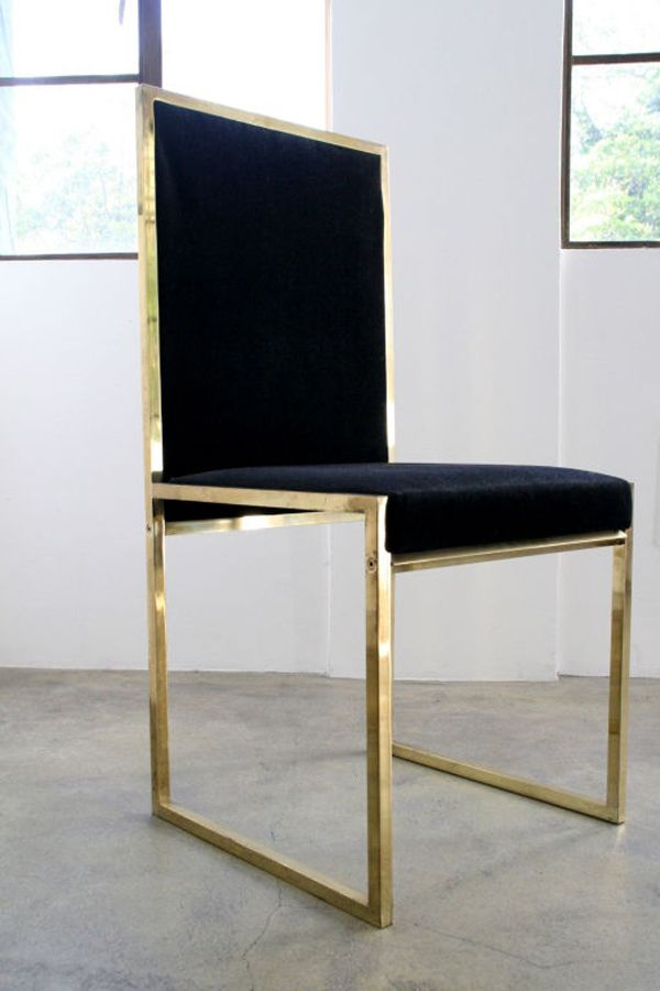 Brass And Black Velvet Dining Chair Decorate Pinterest Velvet Dining Sets And Chairs