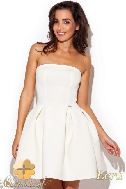 6e854b85d3 Dopasowana sukienka z pianki z rozkloszowanym dołem marki Katrus.  cudmoda   moda  styl