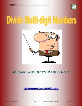 Dividing Multi-Digit Numbers - 6.NS.2