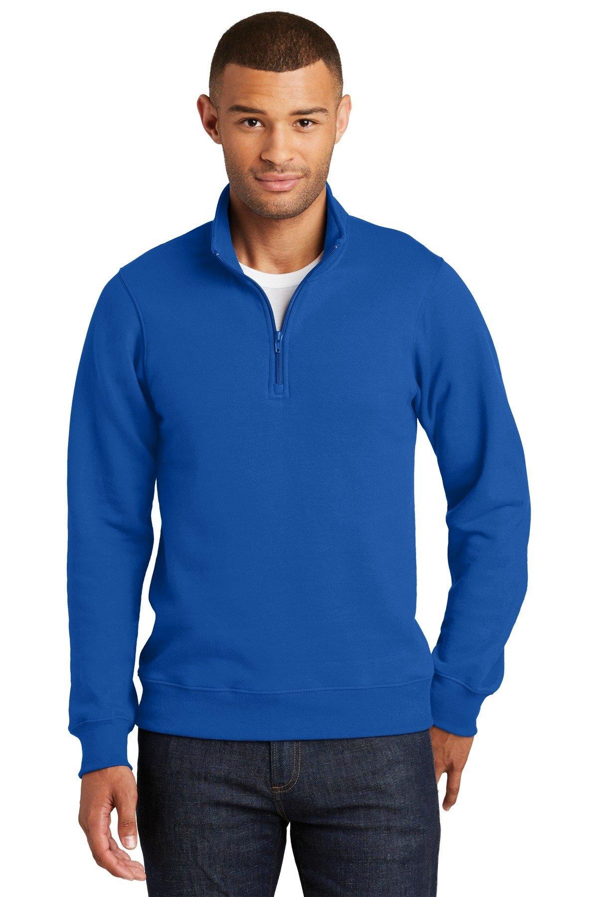 a6b8633f Port & Company Fan Favorite Fleece 1/4-Zip Pullover Sweatshirt PC850Q True  Royal