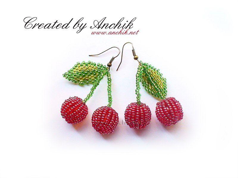 Cherry Beaded Earrings By Anchik22 Beaded Jewelry Tutorials