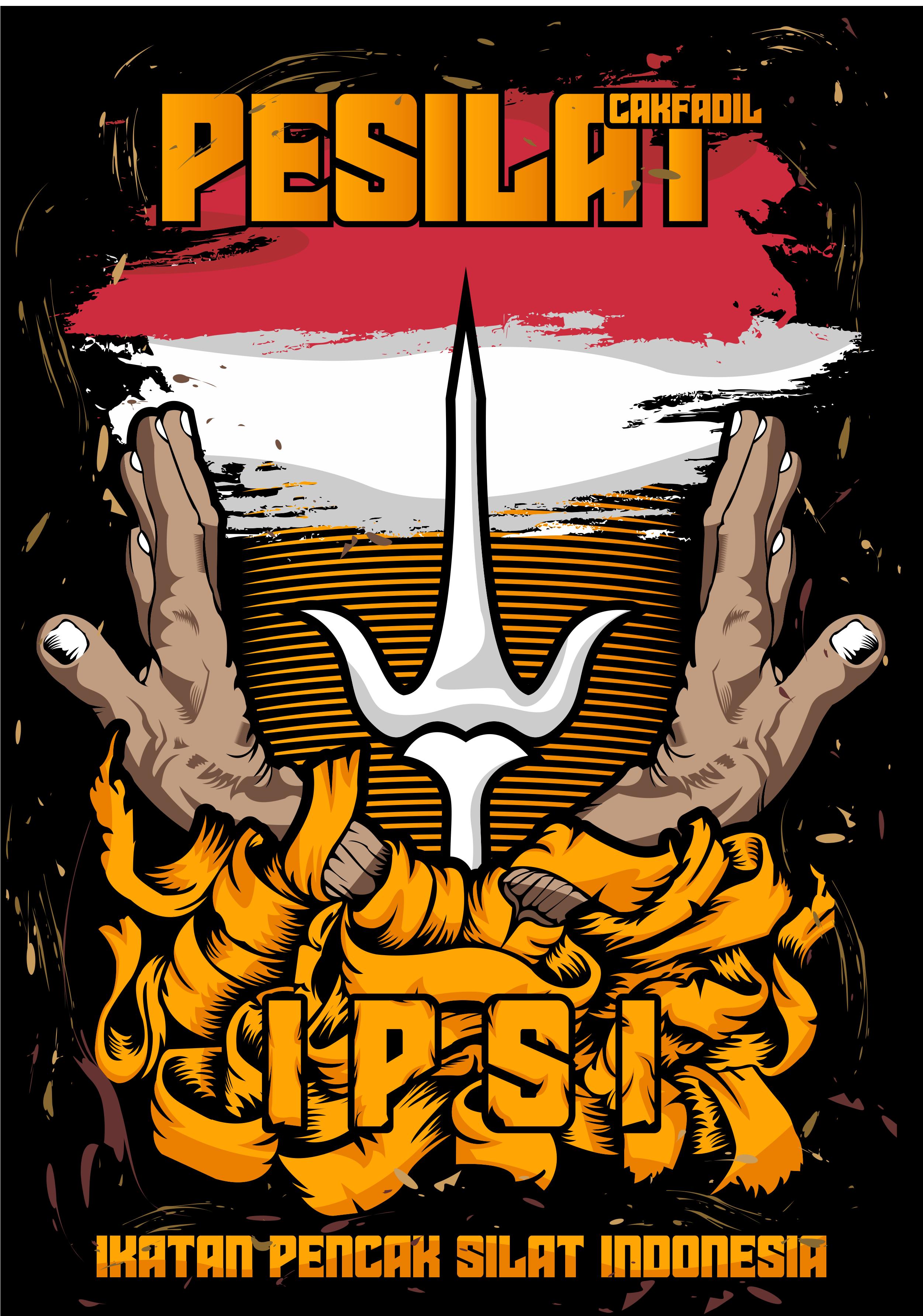 Gambar Logo Pencak Silat : gambar, pencak, silat, Ikatan, Pencak, Silat, Indonesia, Design, Kaos,, Graphic, Logo,, Combat