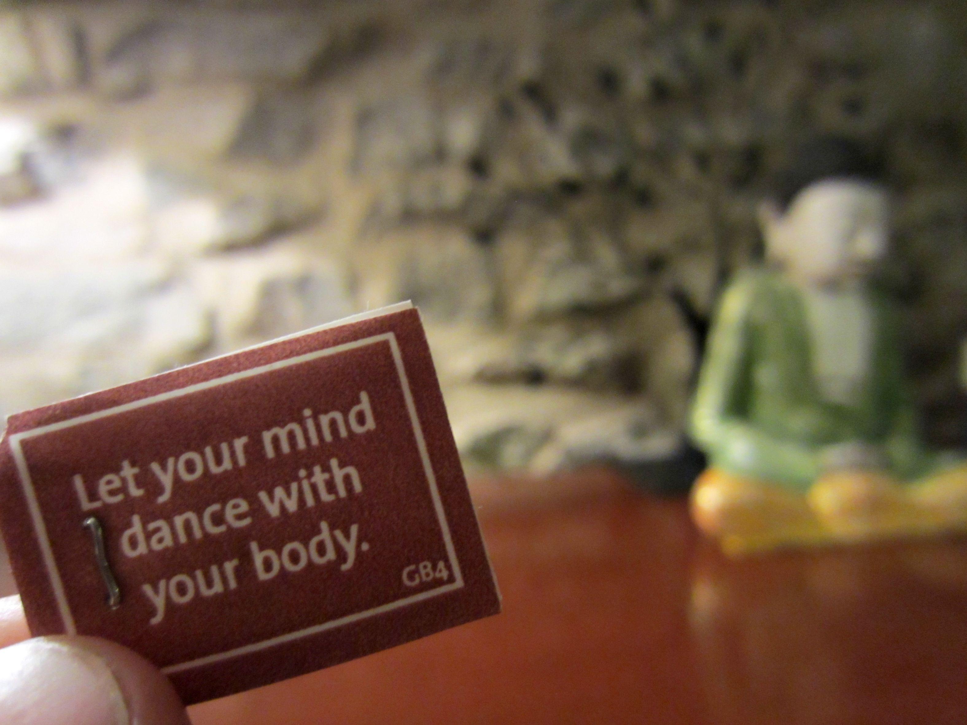 Let your mind dance ...