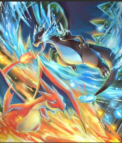 Mega Charizard X Vs Mega Charizard Y Cool Pokemon Wallpapers Pokemon Pokemon Firered