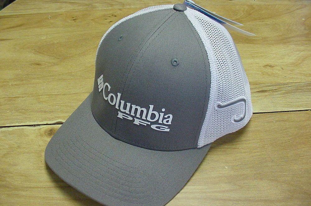 New Columbia Pfg Mesh Hat Cap Flex Fit Titanium Gray Hook L Xl Hot Mesh Hat Hats For Men Hats