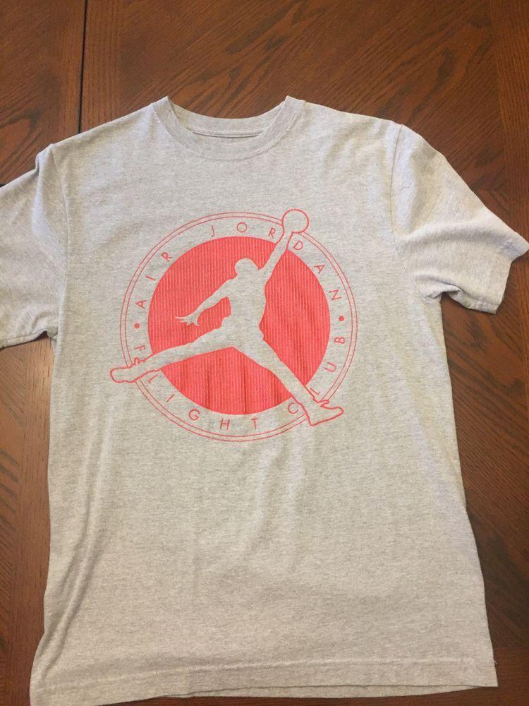 3e09b4a0a647f0 Air Jordan Flight Club T-Shirt Mens Size Medium M Short Sleeve Gray Jumpman  Logo  fashion  clothing  shoes  accessories  mensclothing  shirts (ebay  link)