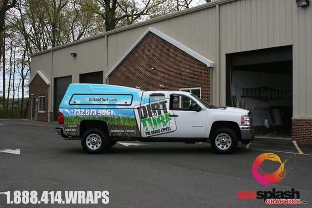 Truck wraps big splash graphics vinyl car wraps and cool for Big truck lettering