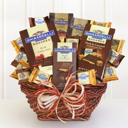 The Perfect Gift Basket - Ghirardelli Dark Sampler, | Chocolate ...