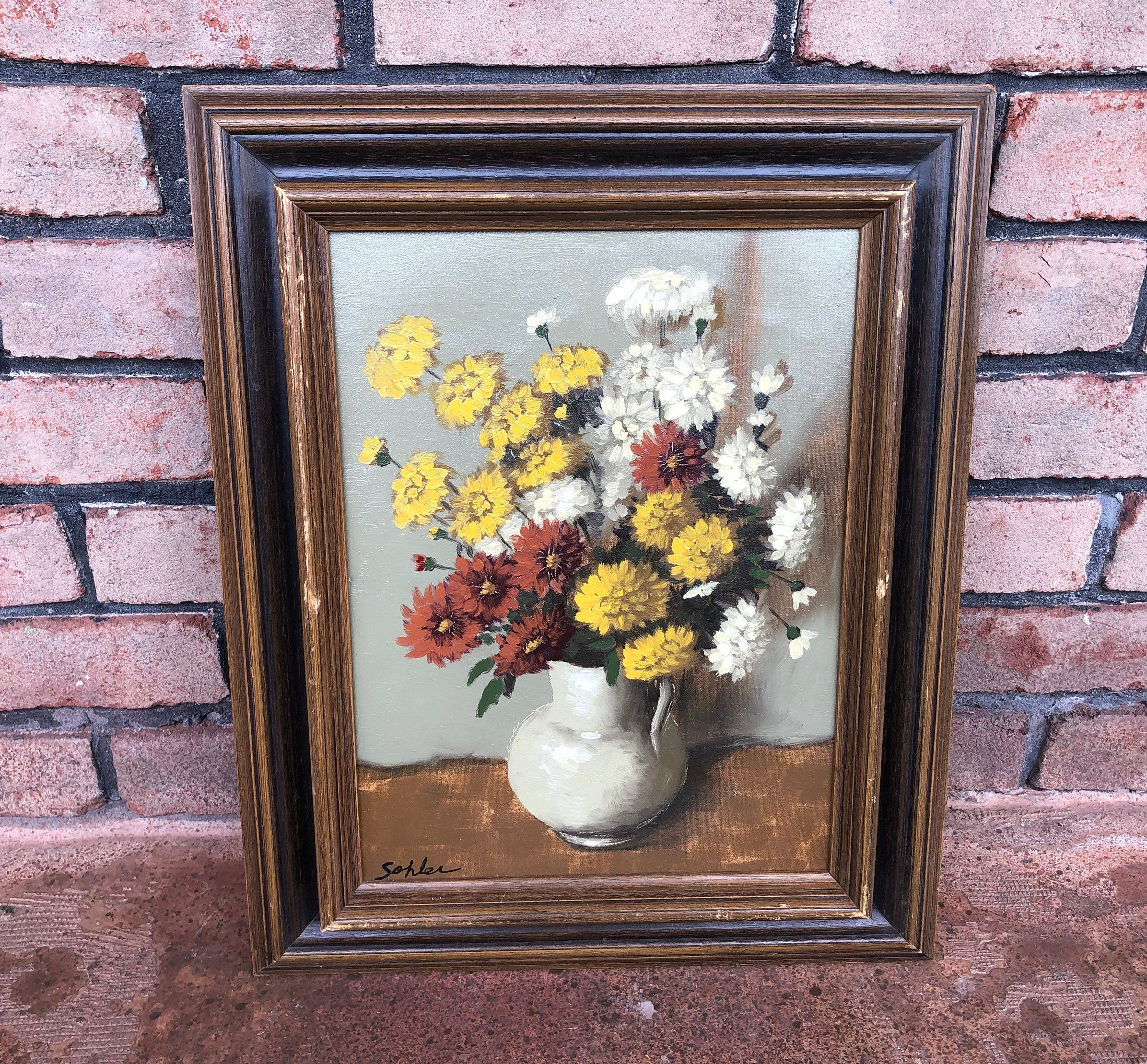 vintage framed art sohler