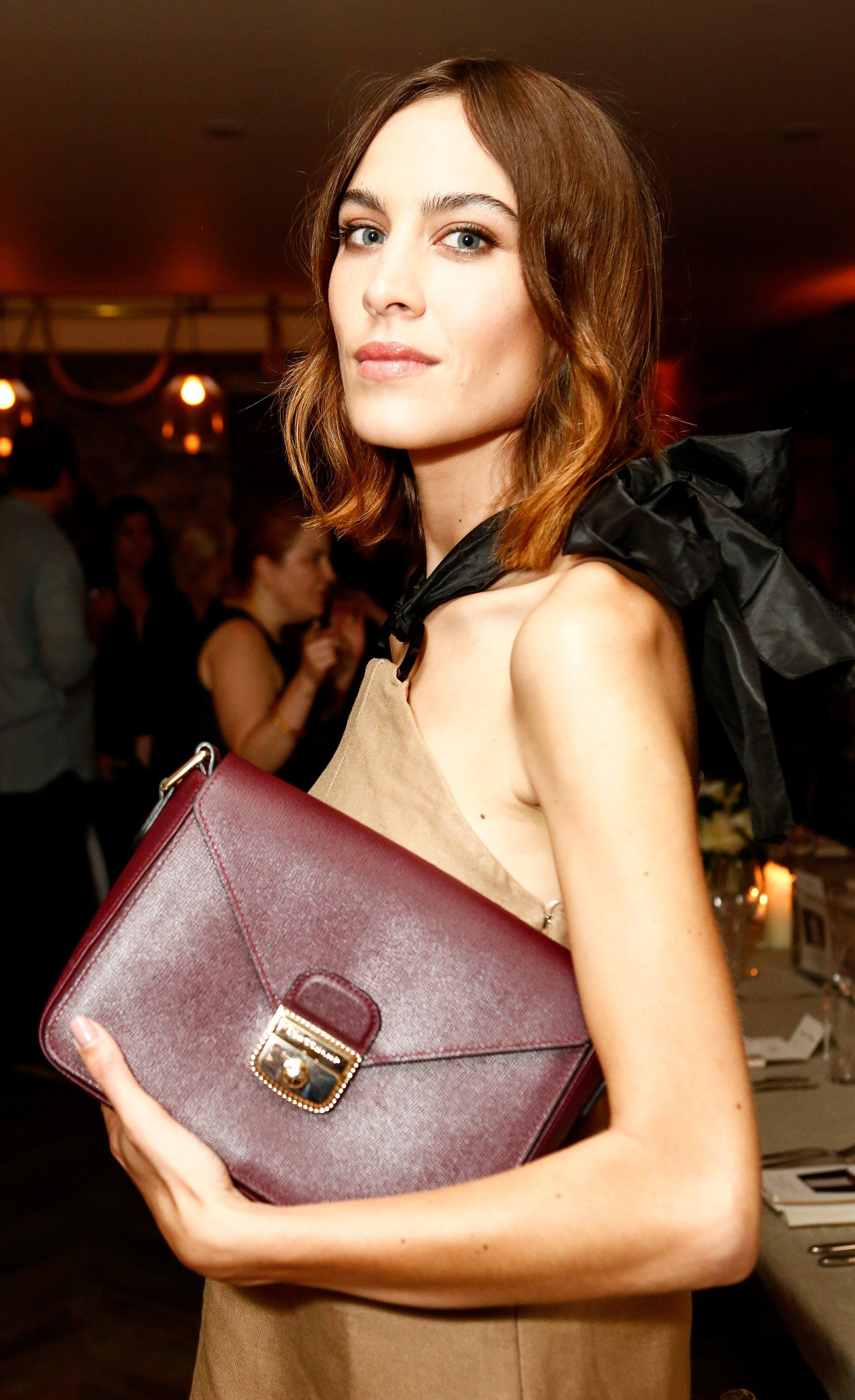 WHO: Alexa Chung WHERE: Longchamp & Alexa Chung Host a Private Dinner, New York City WHEN: June 23, 2015