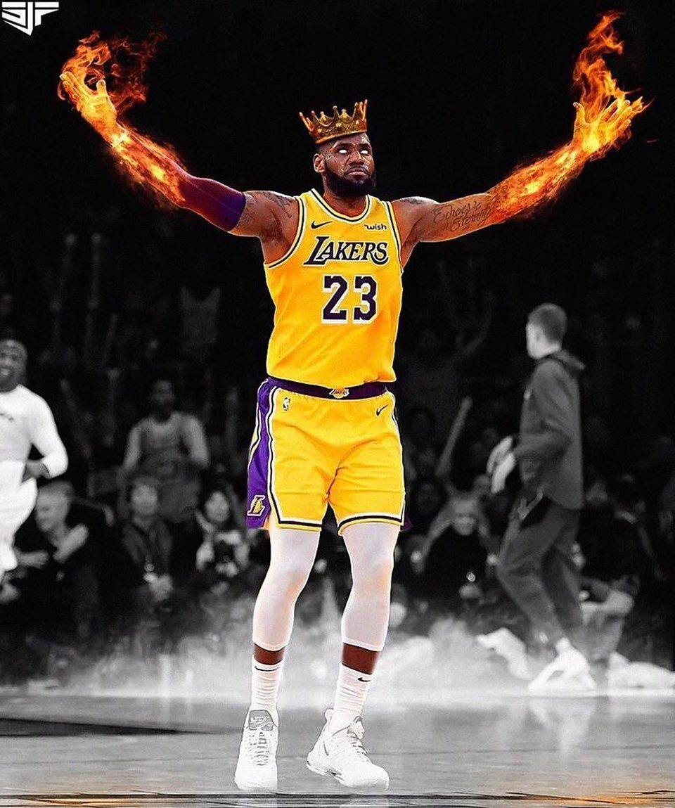 Pin by Brandon Crain on LBJ in 2020 (With images) Lakers