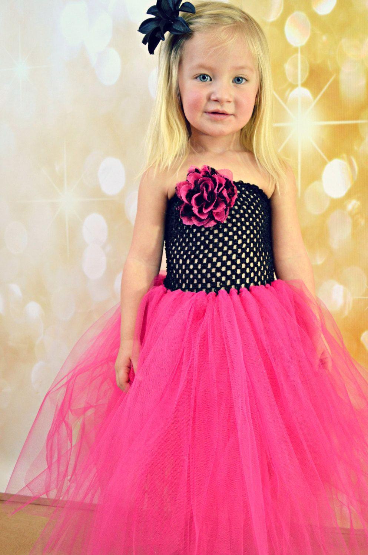 Newborn Size 8 Black And Hot Pink Lace Tutu Dress 3500 Via