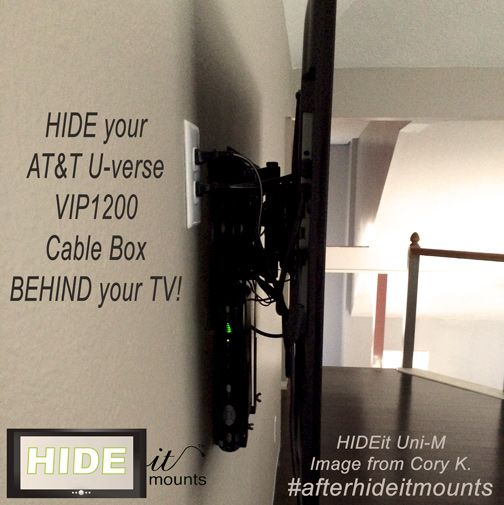 Easy Way To Wall Mount Your Cable Box And Hide The Component Clutter Hideitmounts Com Cable Box Wall Mount Wall Mounted Tv Tv Wall