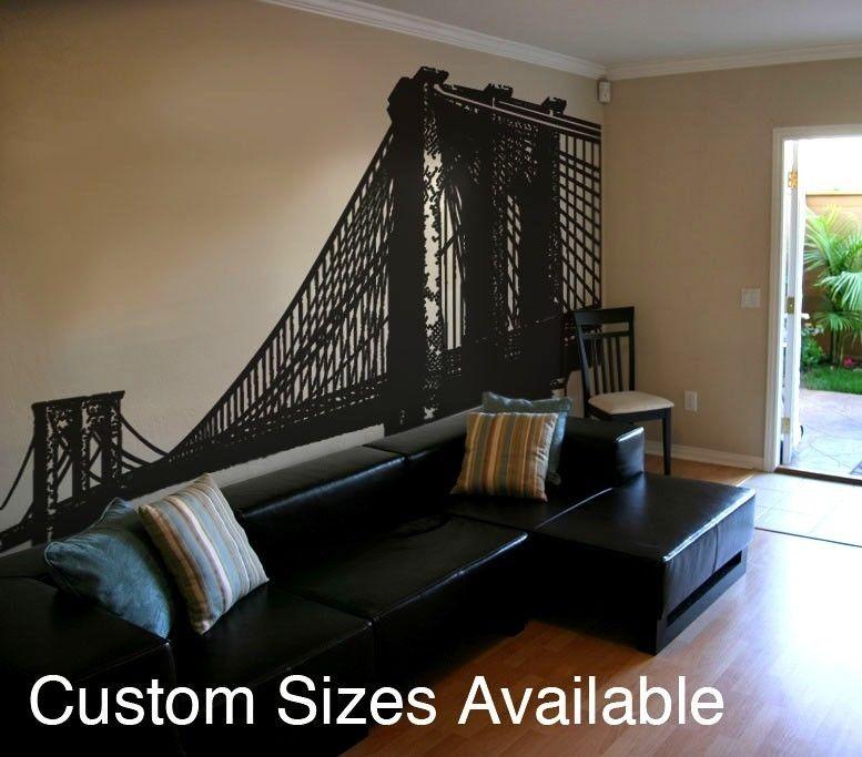 For Brooklyn :) Vinyl Wall Decal Sticker Brooklyn Bridge New York NYC 149.  $90.00