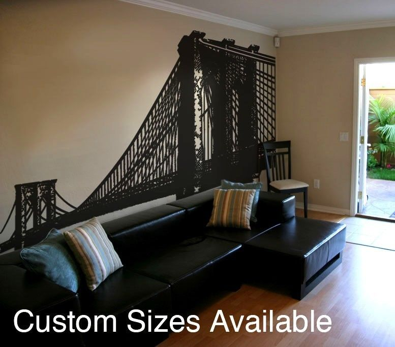 For Brooklyn Vinyl Wall Decal Sticker Brooklyn Bridge New York - Custom vinyl stickers nyc
