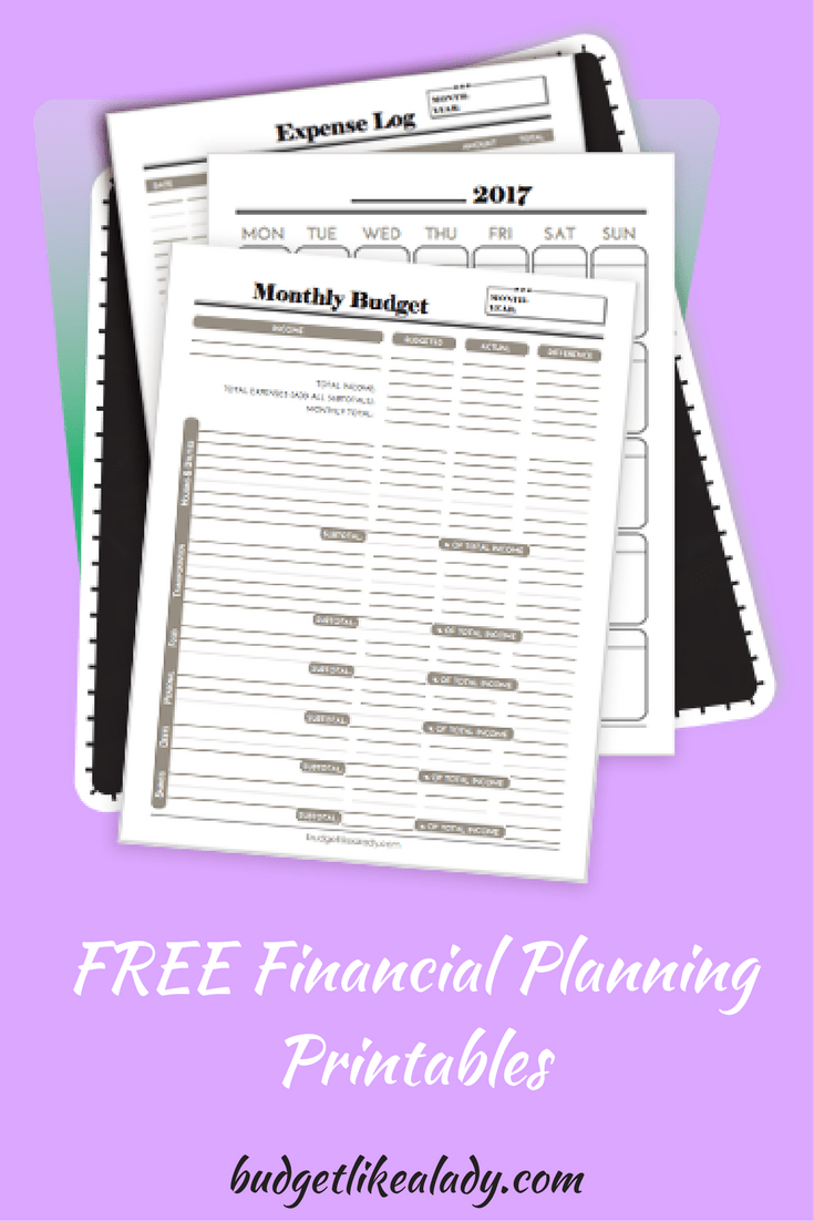 free financial planning printables financial planning budgeting