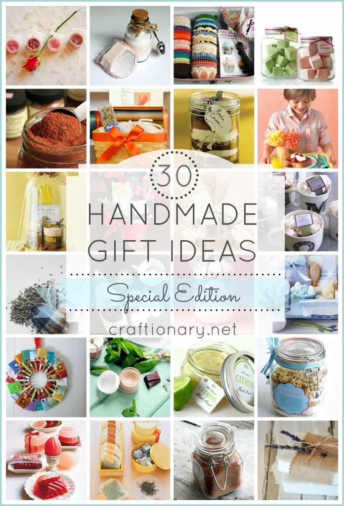 Handmade gift ideas special edition for her gift clay masks and 30th 30 handmade gift ideas including a baking kit clay mask and lavender soap negle Image collections