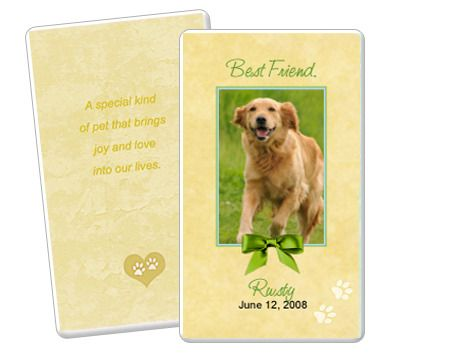 Gold Pet Memorial Flat Card Template Edit In Microsoft Word