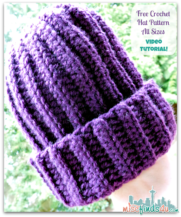 How to Crochet Video: Free Hat Pattern for Scrap Yarn