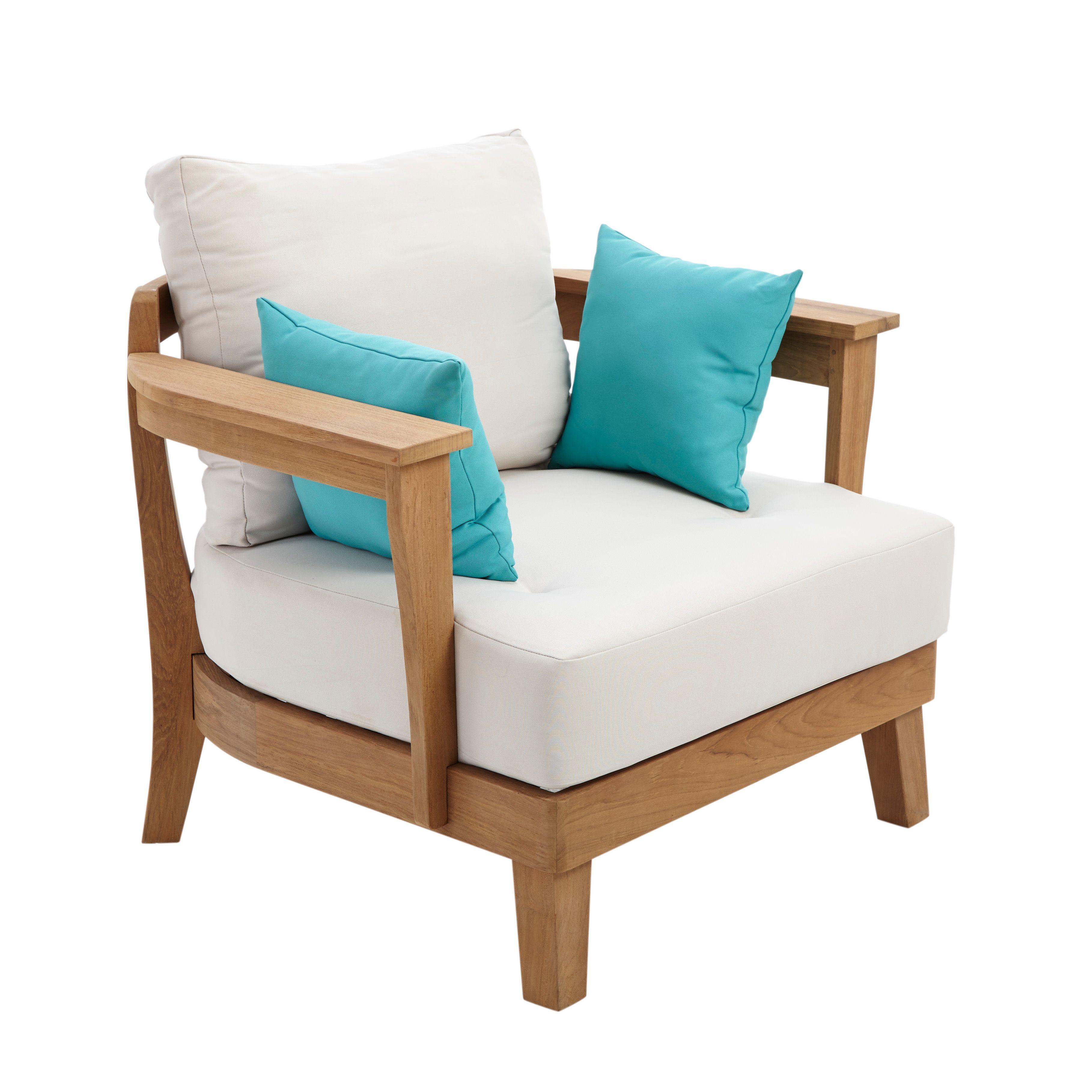 Roscana Teak Wooden Coffee Armchair Departments Diy At 400 x 300