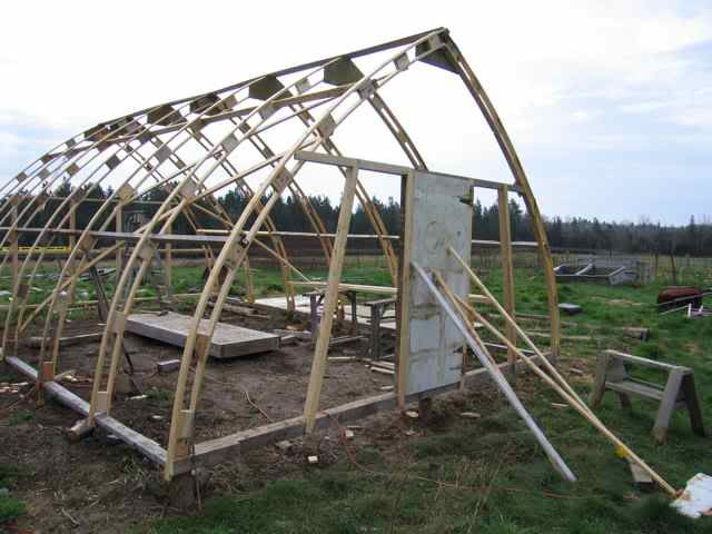 Making Wooden Gothic Arch Greenhouse Ribsavi