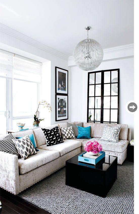 Interior Design Turquoise Contemporary Condo Decor For
