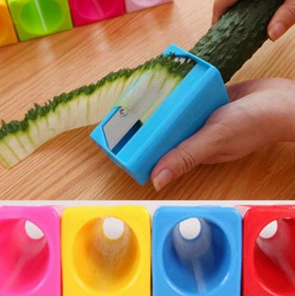 Carrot Cucumber Sharpener Peeler Vegetable Fruit Curl Slicer Kitchen Tool Cool E
