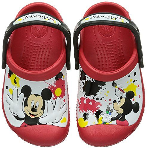 ccd3ba10dc7136 crocs 15856 CC Mickey Paint Splatter Clog (Toddler Little Kid)