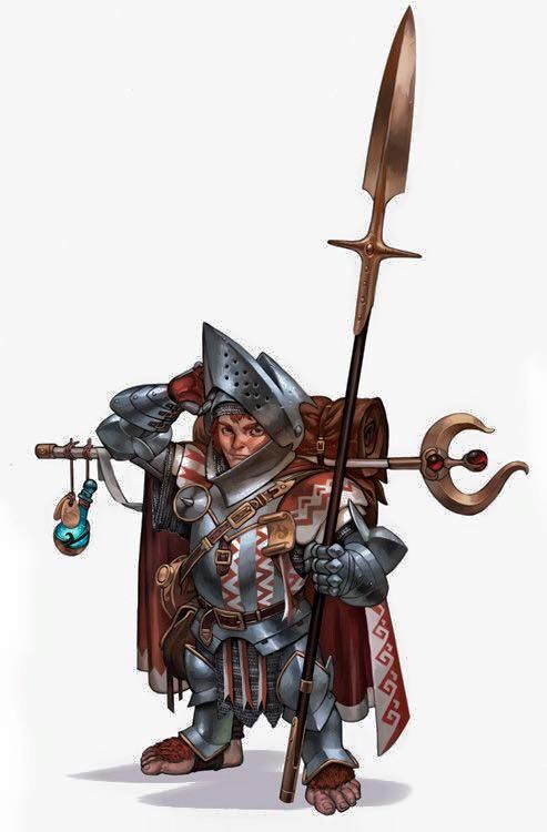 Image result for halfling paladin