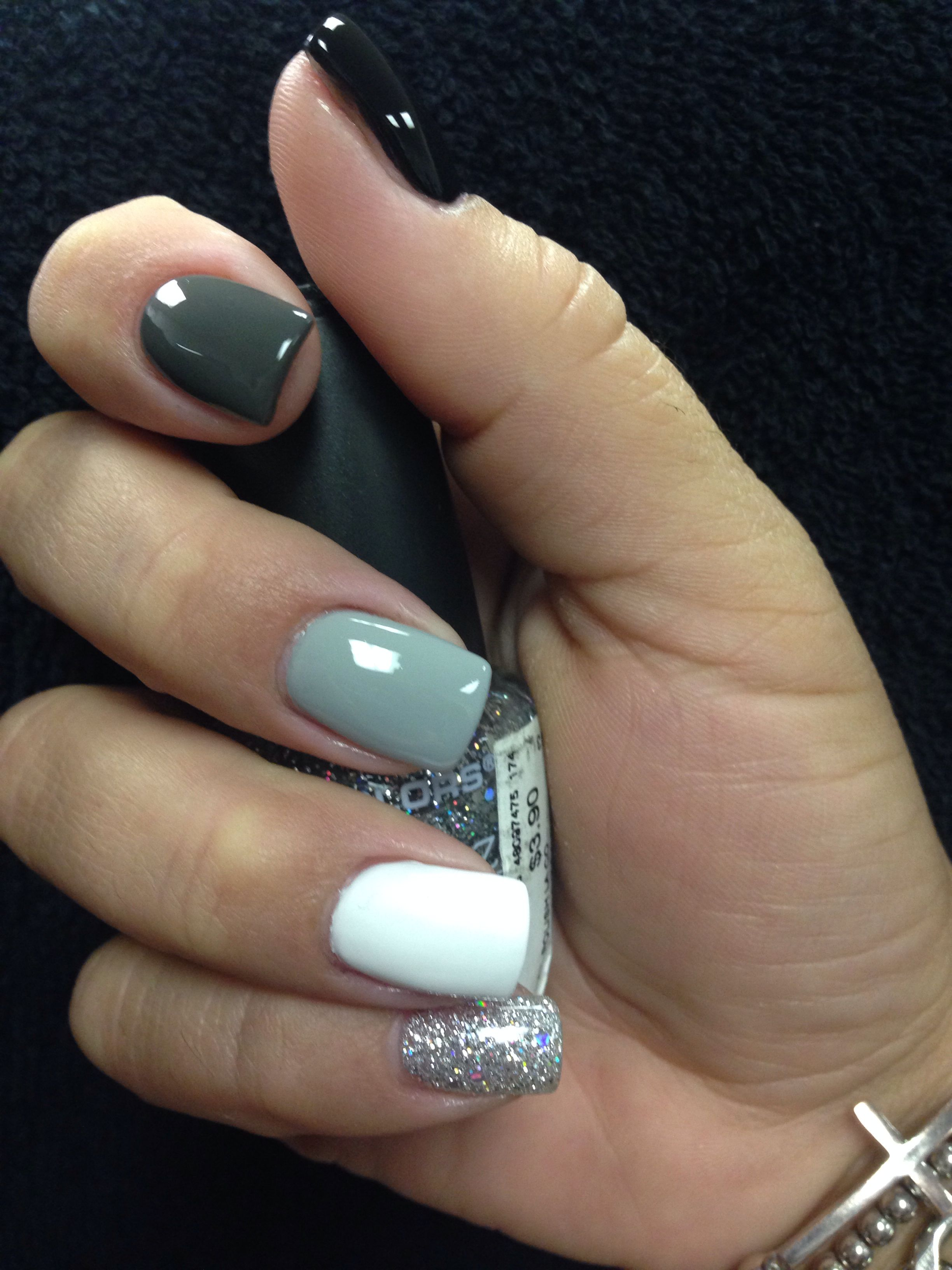 Cute, but I\'ll probably sway the white and the glitter nails ...