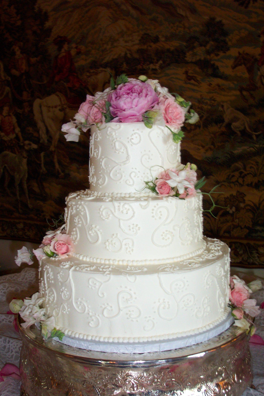 Superb White Scroll Wedding Cake Www.cheesecakeetc.biz Wedding Cakes Charlotte NC
