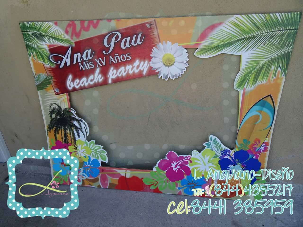 El mejor marco para Fotos #BeachParty #PoolParty #xv Que tu evento ...