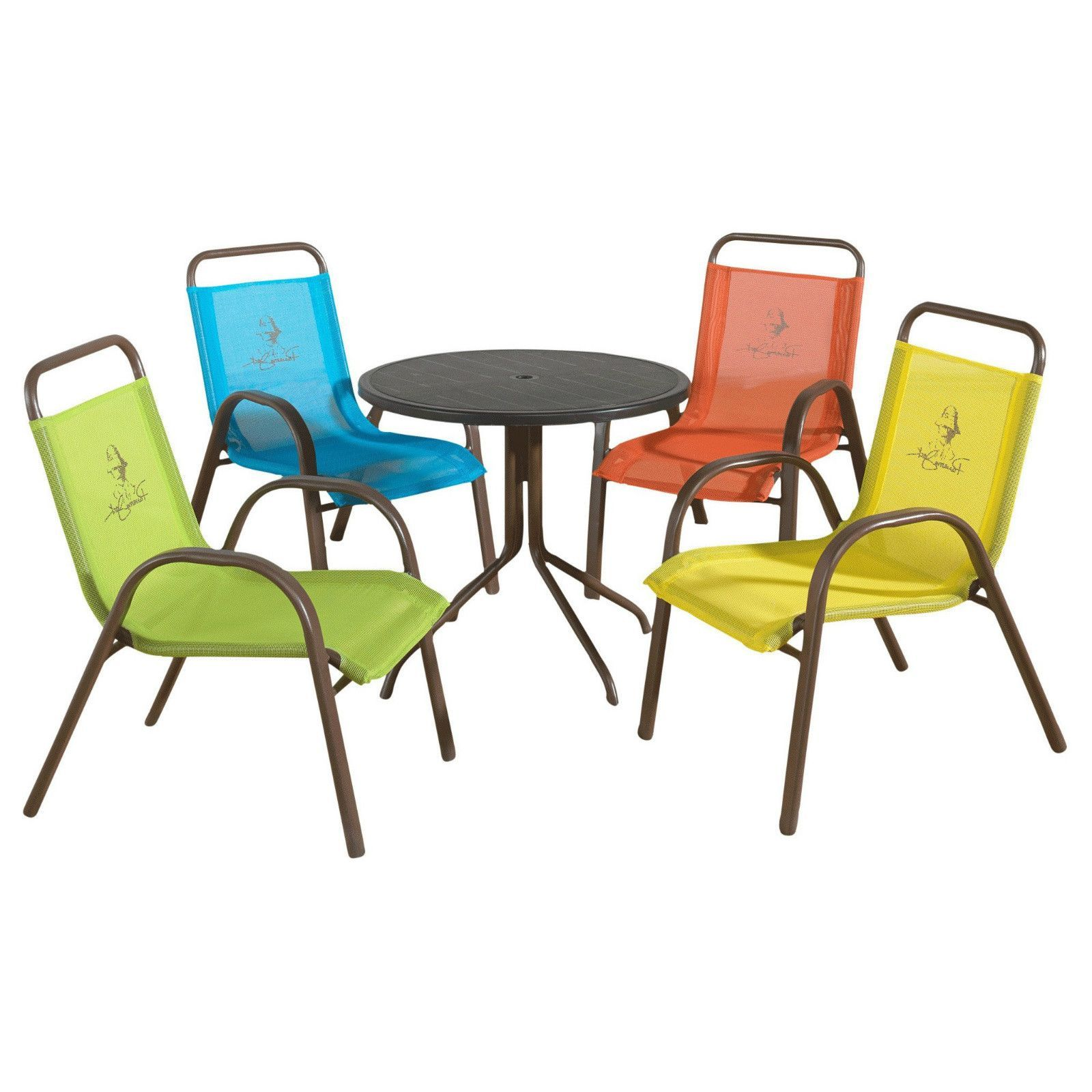 Dining table set for 4 round kids sized chairs aluminum durable 5pc dinette deck product description let the kids enjoy the outdoors with this kid sized