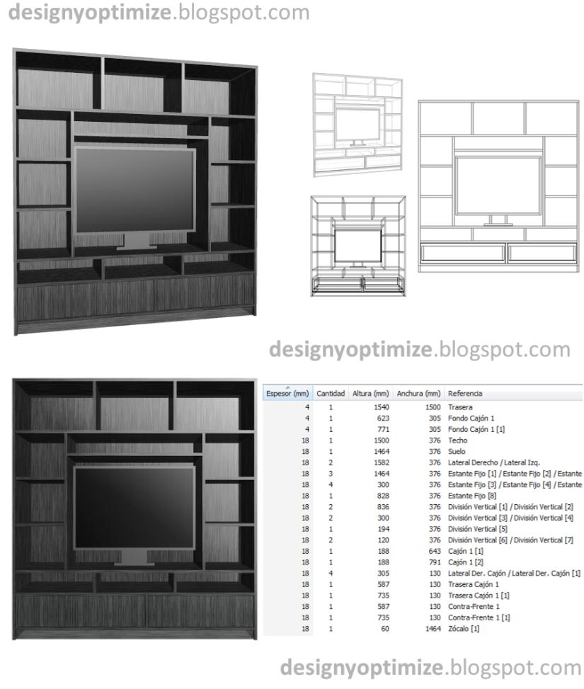 Dise os de muebles armarios cocinas bibliotecas etc for Software diseno muebles