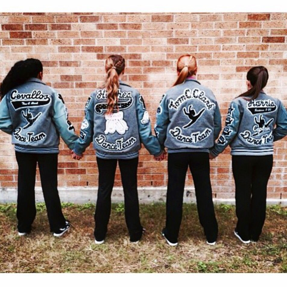 Bling glitter patches letterman jacket follow them on