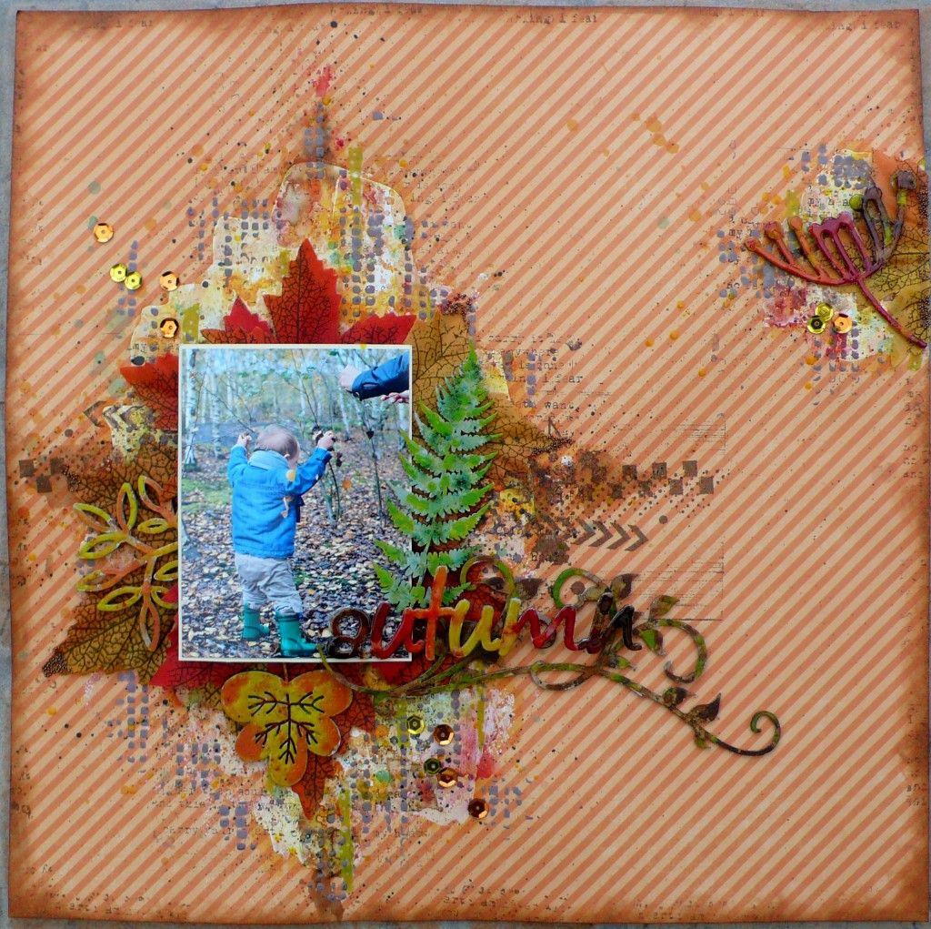 November Challenge - Creative Embellishments- Laetitia Pauchet